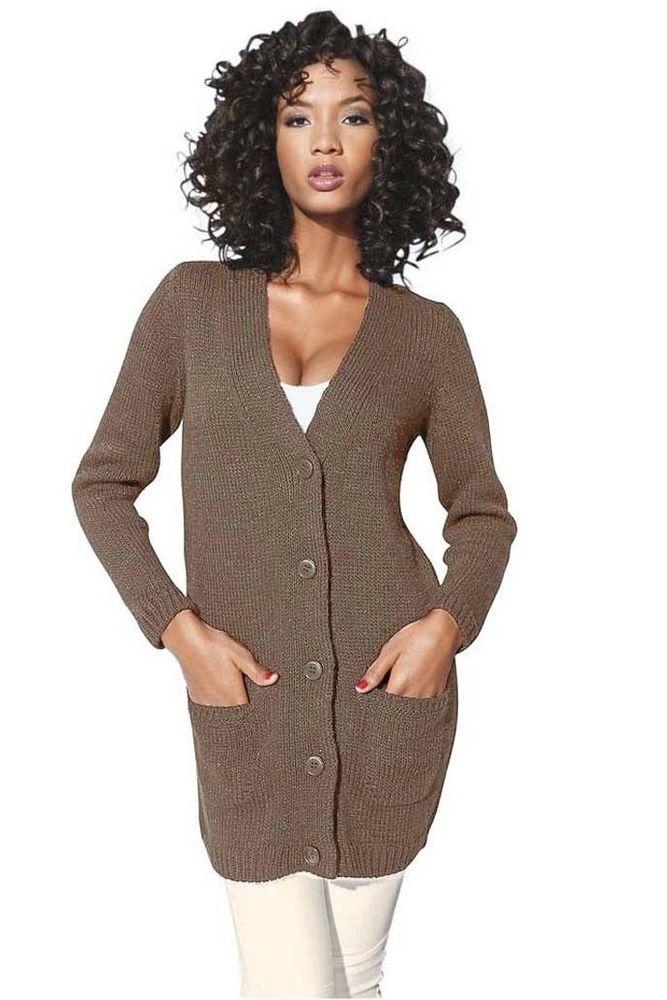 Heine #Damen #Strickjacke #Cardigan #Pullover #Grobstrick
