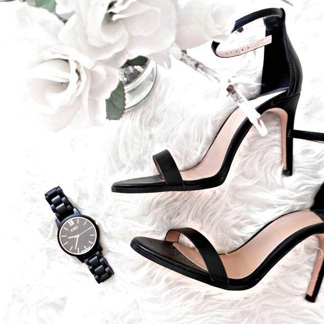watch + heels #woodwatch #jord #jordwatches #heels #sandals #black #white #minimalism
