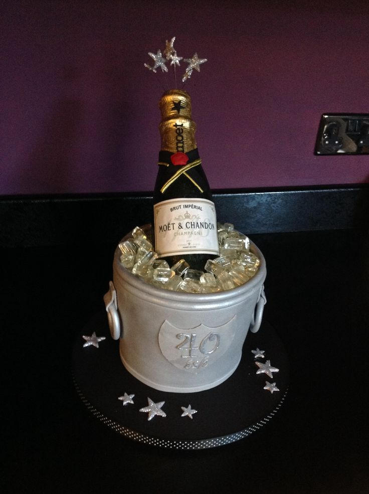 Champagne bucket cake, moet cake,