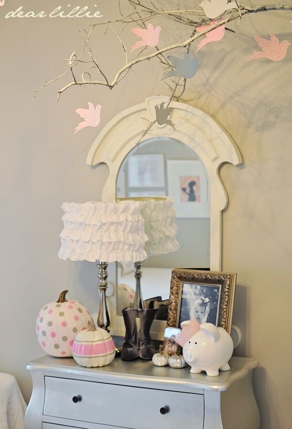 Pink Painted Pumpkins...Maddie will go crazy over this!   {Dear Lillie}