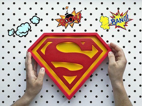 Superman Superman Night light Gift for men Superman gift idea