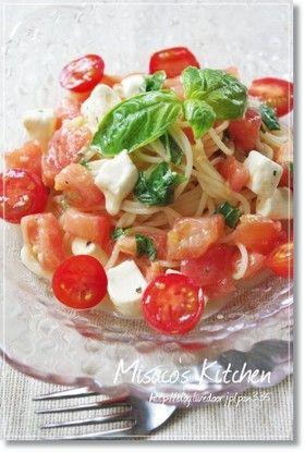 簡単!クリームチーズとトマトの冷製パスタ