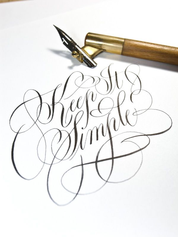 Keep it Simple by Joan Quirós #calligraphy #calligraphyart #calligraphydesign #artwork