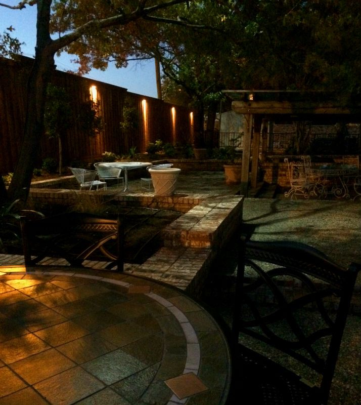 Fence Lighting + Tree Down Lights Installed In Dallas, TX By Dallas Landscape  Lighting
