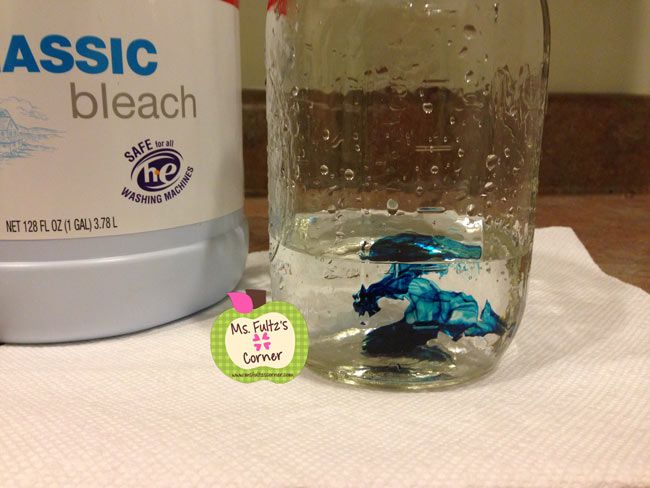 ms fultzs corner teaching the scientific process easy experiment freebie that uses water Bleach Chemical Reaction and Food Coloring  Bleach And Food Coloring