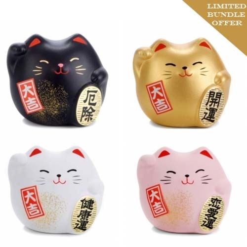 Japanese Lucky Cats Gift Set