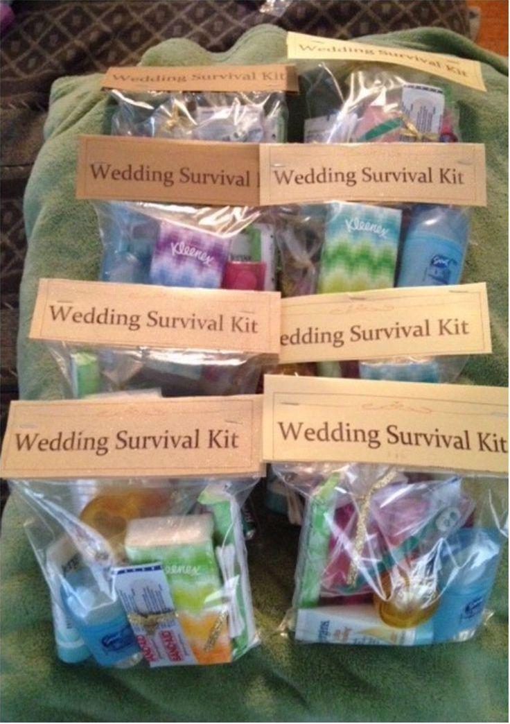 DIY Wedding Survival Kit Diy wedding day, Gifts for