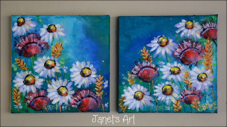 Bloom where you are planted - Janet's Art - Acryllic on stretched canvas - janet1bester@gmail.com