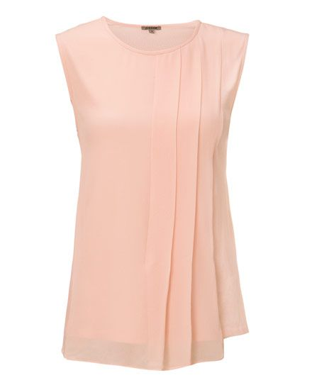 Silk Pleat Overlay Shell Top by Jigsaw…