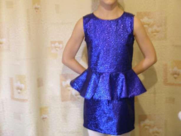 Нарядное платье для девочки---цвет электрик. Днепр - изображение 6