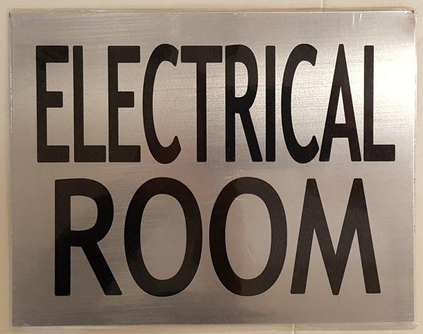 Electrical Room Sign Brushed Aluminum Aluminum Signs 6x7 75 Room Signs Aluminum Signs Mechanical Room