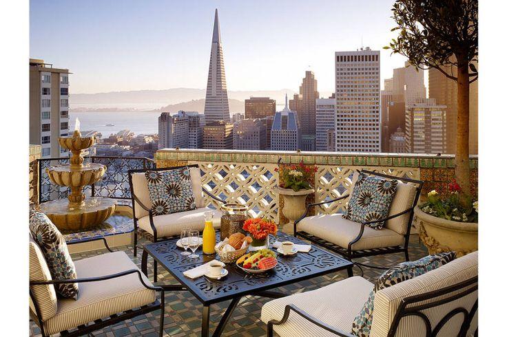 The World's Best Balconies - Hotels With The Best Views Around The World - Harper's BAZAAR San Francisco Hotel Interior Designs