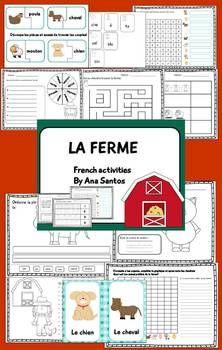 LA FERME- FRENCH ACTIVITIES - TeachersPayTeachers.com