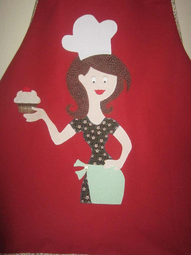 TELAS Y MARIPOSAS. El Blog de Emi Luna: Delantal cocinera.