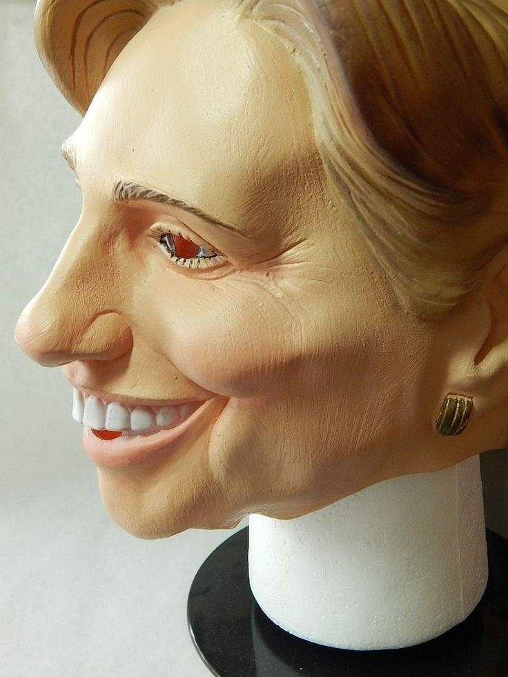 Hillary Clinton Halloween Mask Full Rubber Head New Presidential Politician  #Disguise #FullHeadandHairCoverage