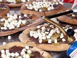 Fudge, Nut and Fluff Apple Dessert Pizza Recipe : Robert Irvine : Recipes : Food Network