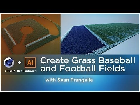 Create 3D Baseball & Football Grass Fields - Cinema 4D tutorial - Sean Frangella - YouTube