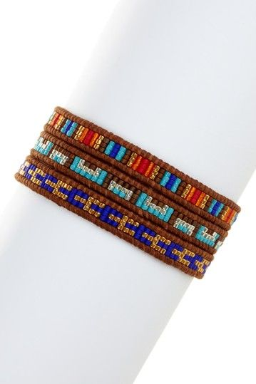 Multicolor Japanese Seed Bead Wrap Bracelet by Chan Luu on @HauteLook