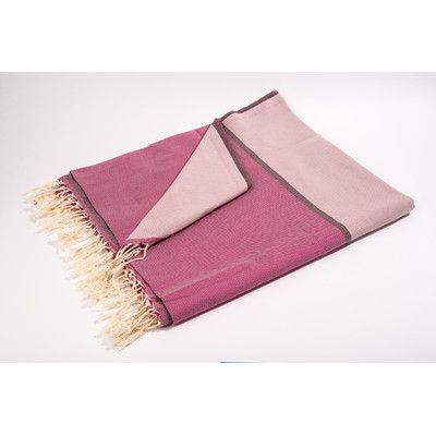 Yuka Fouta Large Bath Towel Color: Pink