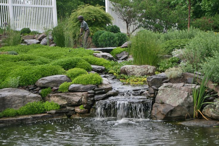 17 best images about ponds and waterfalls on pinterest for Ornamental pond waterfall