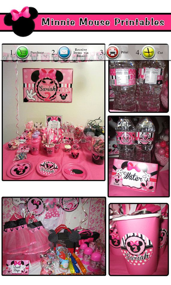 55 best Madison 1st birthday images on Pinterest Birthdays Minnie