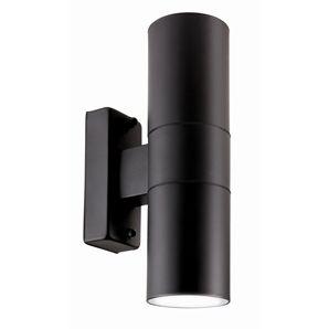 Brilliant 35W Black Coolum Up Down Exterior Wall Light