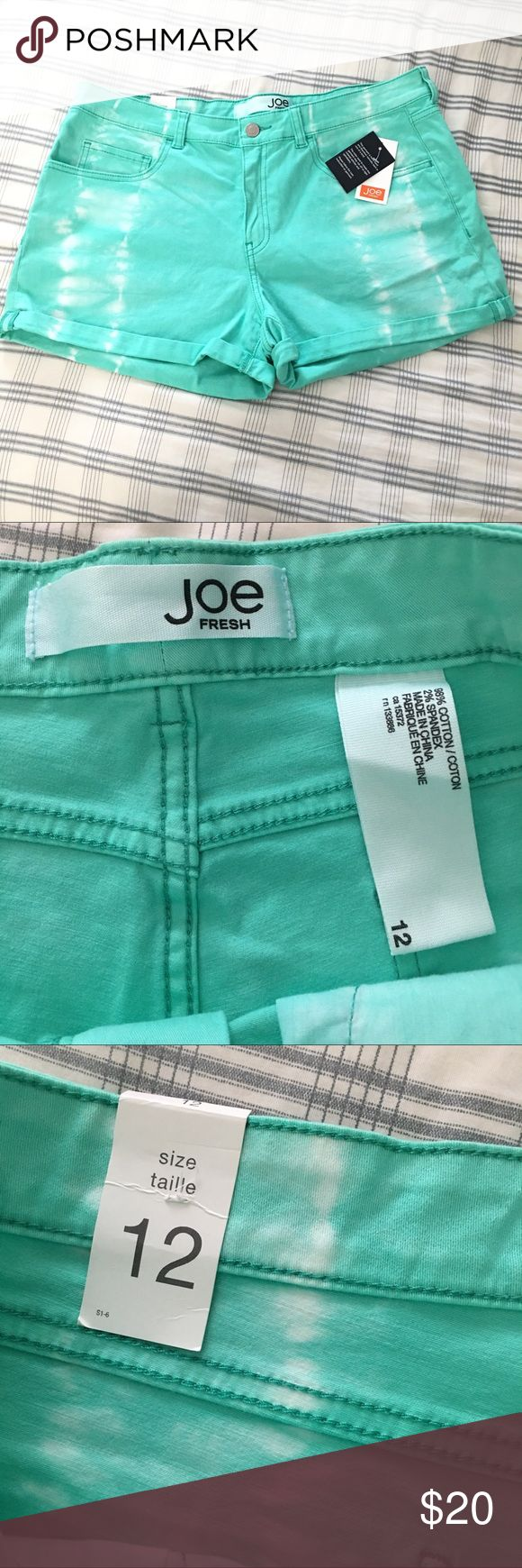 NWT JOE FRESH AQUA SHORTS, Sz 12 New, never used Joe Fresh Aqua shorts, Size 12. Pls. check all photos for details. Msg for any question. Joe Fresh Shorts