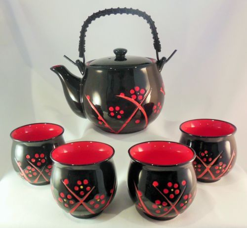 034-Black-Beauty-034-Japanese-Tea-Pot-Tea-Set-600ml