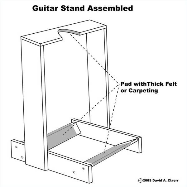 How to Make a Wooden Guitar Stand