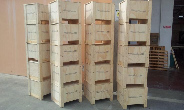 Alcune cassette in legno di recente produzione, anche per spedizione all'estero a normativa ISPM15 FAO Fitok.