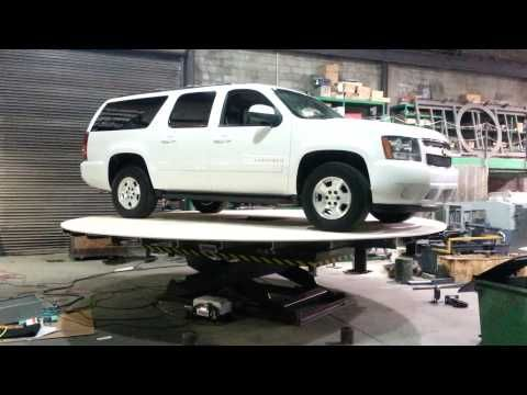 Car Hoist Turntable - YouTube