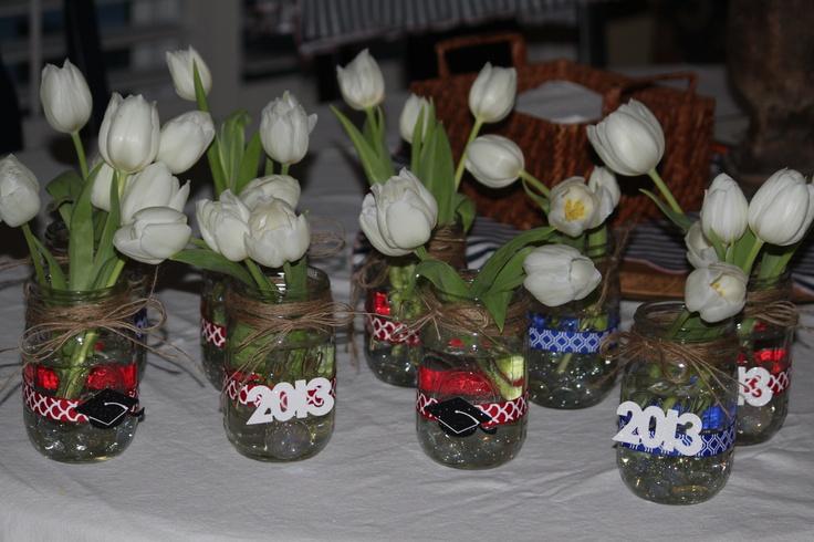 Graduation party centerpieces grad pinterest