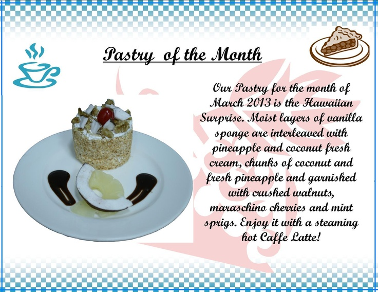 'Pastry of the Month' at @Al Diar Dana Hotel.