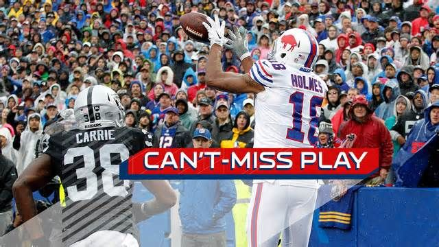 Can't-Miss Play: Buffalo Bills wide receiver Andre Holmes catches perfect lob pass for toe-tap TD Buffalo Bills wide receiver Andre Holmes breaks ankles and toe-drags to score against his former team, the Oakland Raiders. Belichick: We've had the best QB situation in the NFL for the last 2-3 years, it was just not sustainable