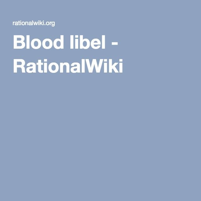 Blood libel - RationalWiki