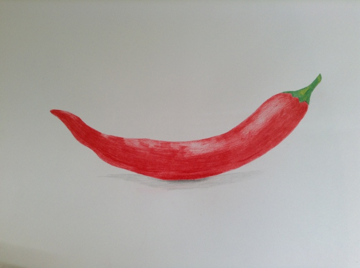 Red Chilli Natural Objects Drawings Pinterest Red
