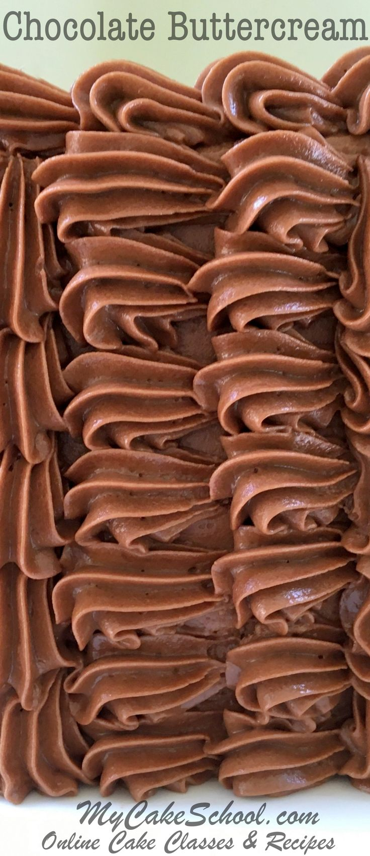 DELICIOUS Chocolate Buttercream Recipe by MyCakeSchool.com. Tastes fantastic and pipes beautifully! - MyCakeSchool.com Online Cake Decorating Classes & Recipes!