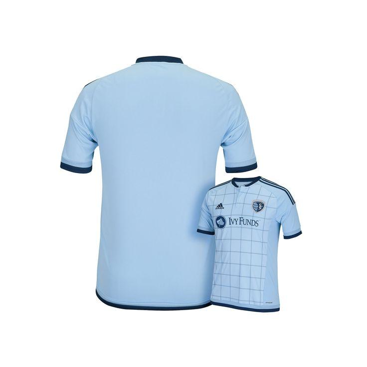 Men's Adidas Sporting Kansas City Wordmark MLS Jersey, Size: Medium, Grey