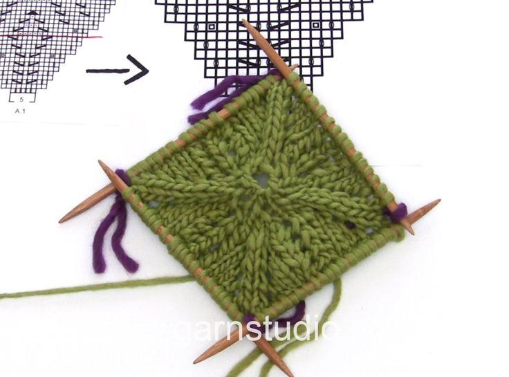 Вязание варежек -квадрат от большого пальца DROPS Knitting Tutorial: How to work the beginning of the cloth in DROPS 170-34