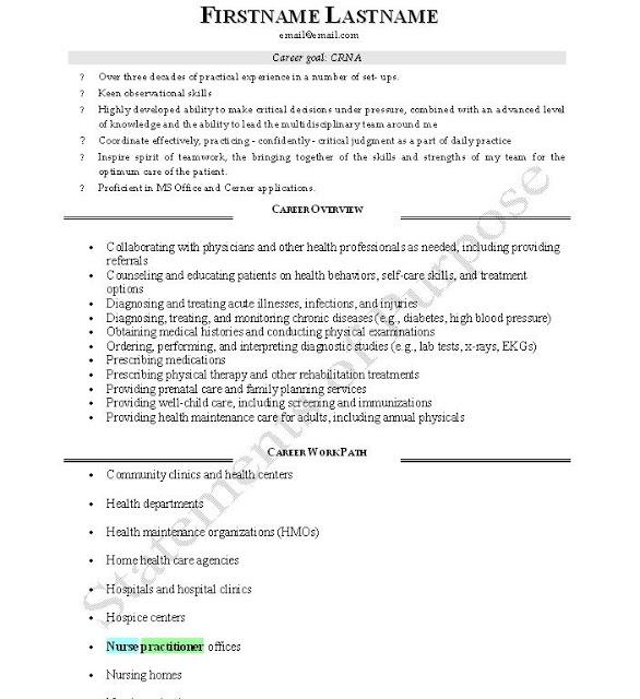 Good CRNA resume