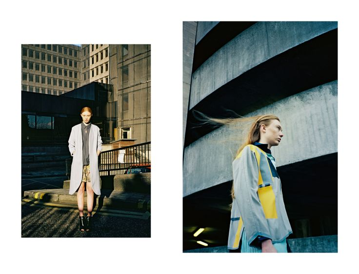 Left: Kessal Tweed coat, Saunt & Sinner; shirt, Stephanie Davidson; necklace, Patience Jewellery; shorts, Kelly Dawn Riot; shoes, Debenhams. Right: Blazer, Salwa McGill; shirt and trousers, both Salwa McGill Styling: Alexandra Fiddes Photographs: Igor Termenon