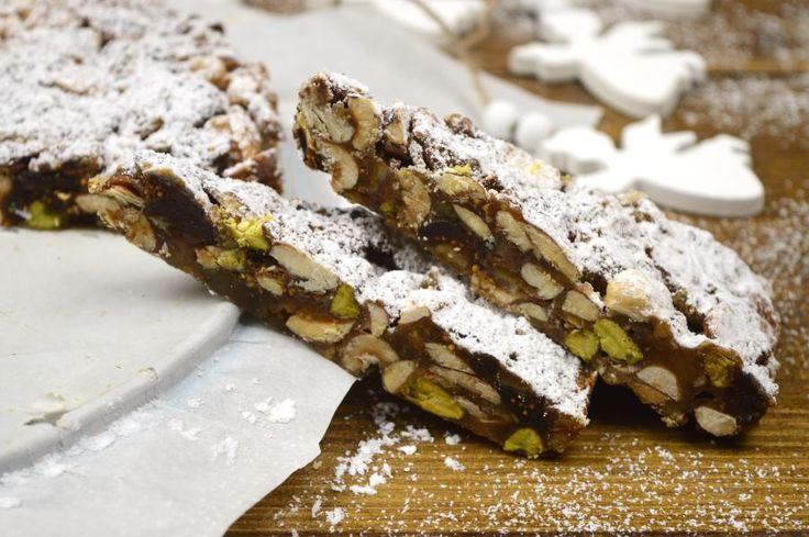 Ένα παραδοσιακό χριστουγεννιάτικο, Ιταλικό γλυκό της Τοσκάνης με  χαρακτηριστικά πικάντικα αρώματα λόγω των μπαχαρικών και του λευκού  πιπεριού που περιέχει.  Μοιάζει σαν γλυκιά μπάρα ενέργειας αλλά διατηρείται μαλακή η πυκνότητα του  και πλούσια λόγω των ξηρών καρπών και φρούτων που έχει.  Περιέχει 17 υλικά όσες ήταν και οι περιοχές της Σιέναεντός των τειχών.           ΜΕΡΙΔΕΣ: 12 – 14 ΚΟΜΜΑΤΙΑ ΧΡΟΝΟΣ ΠΡΟΕΤΟΙΜΑΣΙΑΣ: 20 ΛΕΠΤΑ ΧΡΟΝΟΣ ΨΗΣΙΜΑΤΟΣ: 30 ΛΕΠΤΑ ΣΥΝΟΛΙΚΟΣ ΧΡΟΝΟΣ: 50 ΛΕΠΤΑ  …