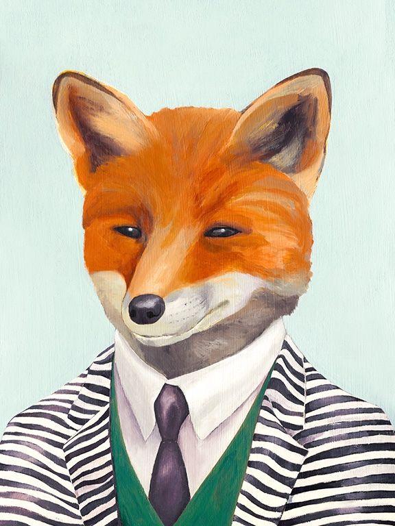 Fox archival art print