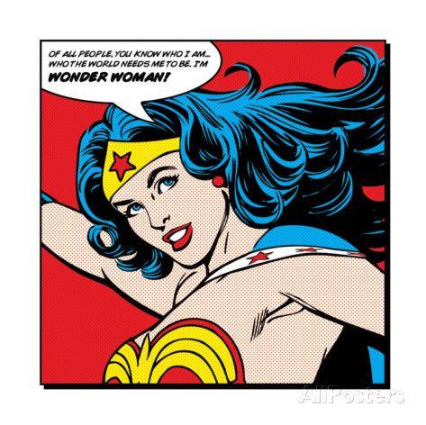 Close-up Wonder Woman, met Engelse tekst: Of All People Posters bij AllPosters.nl
