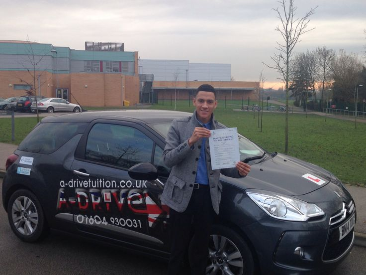 """1ST TIME DRIVING TEST PASS!!!  Congratulations to Khavan Bryan of Kingsthorpe College who passed his practical driving test 1st time 5/12/14 with only 7 minor driving faults at Northampton Driving Test Centre with Andy McIntosh of www.adrivetuition.co.uk  01604 930031  #Driving #Adrive #DrivingTest #DrivingSchools #DrivingLessons #DrivingInstructors #Northampton #Daventry #Towcester #Wellingborough #Northants  Khavan said """"Thanks so much Andy. I couldn't have felt more prepared to take the…"""