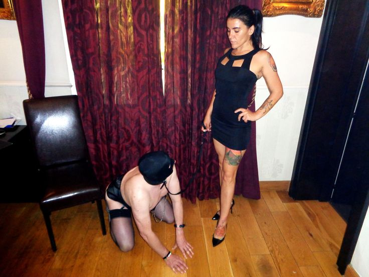Me with one of My slaves in real session! Strapon, cfnm, domination
