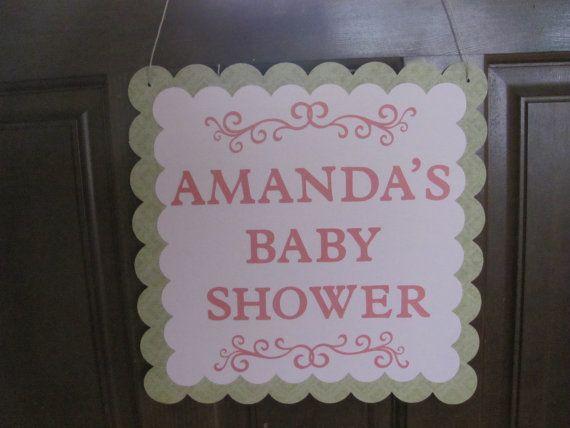 Muestra de puerta, decoración de la ducha de bebé, bebé ducha decoraciones, signo de la ducha de bebé, bebé muestra puerta de ducha