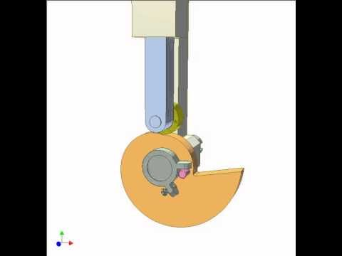 Disk cam mechanism DF7 - YouTube Perfect for a sudden downward effect, jaw closing ... M