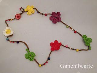 Ganchibearte: Collar de flores a crochet
