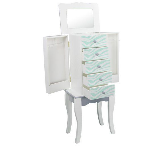 Buy Teamson Kids Fashion Prints Jewellery Armoire - Zebra at Argos.co.uk, visit Argos.co.uk to shop online for Dressing tables, Bedroom furniture, Home and garden #BedroomFurnitureArmoire